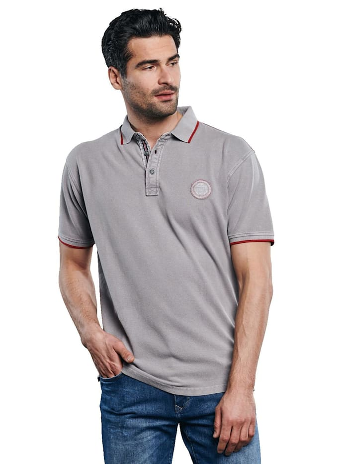 Engbers Polo-Shirt gefärbt, Mausgrau