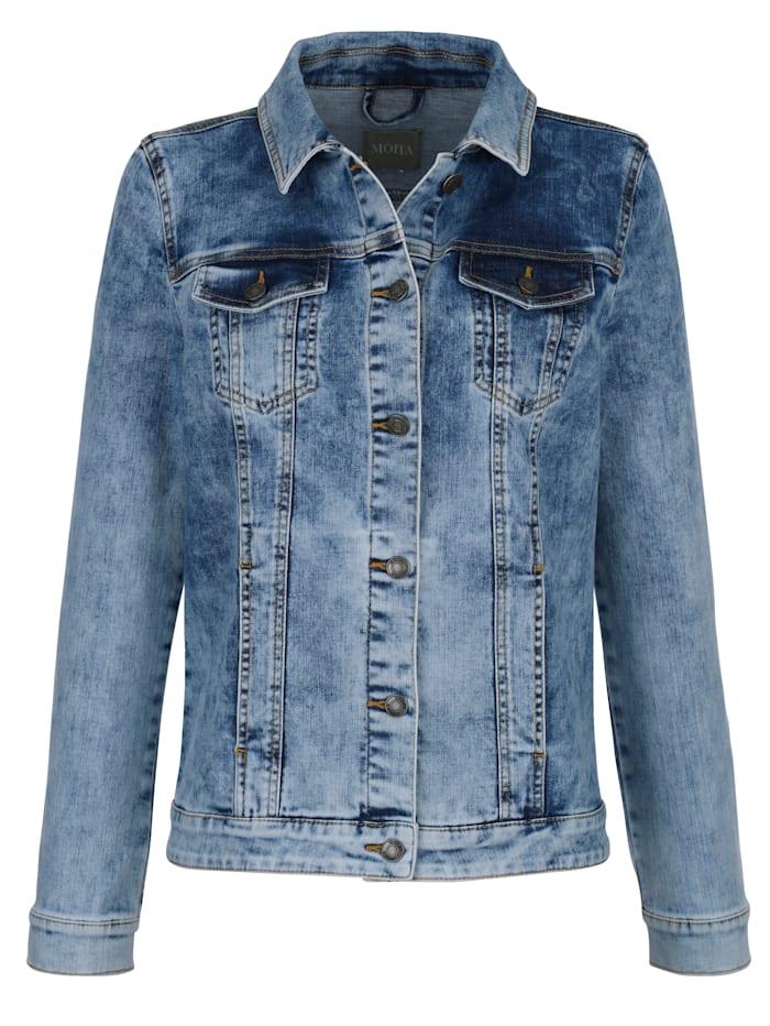 Denim jacket in a stylish mid wash finish