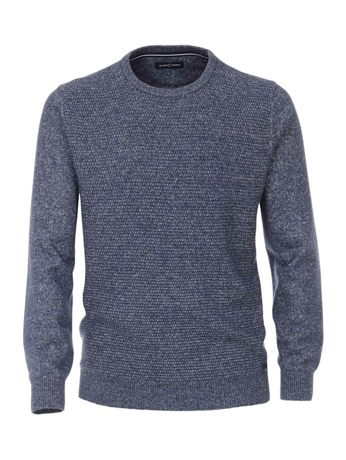 CASAMODA Pullover mit Rundhalsausschnitt andere Muster, Mittelblau