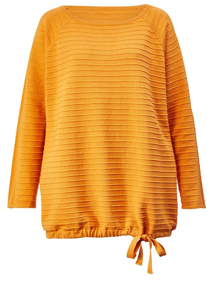 Pullover mit seitlichem Bindeband