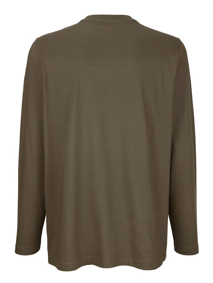 T-shirt à manches longues à patte boutonnée