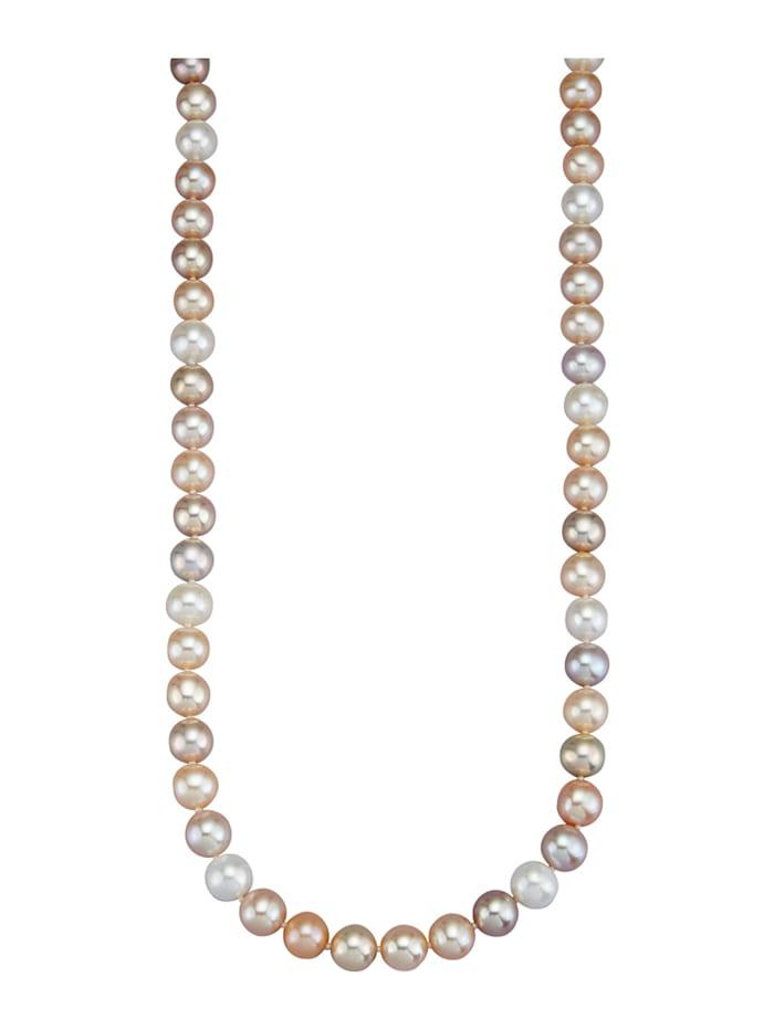 Diemer Perle Süßwasser-Zuchtperlen-Kette, Multicolor