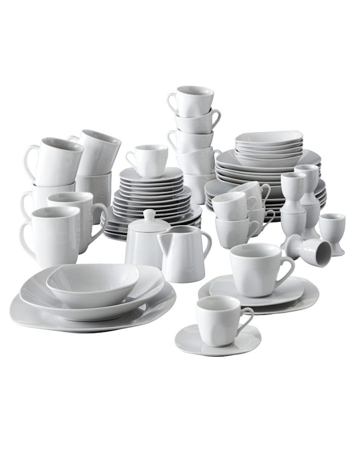 Van Well Service de table 62 pièces 'Etrium', Blanc