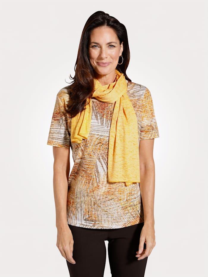 MONA Shirt mit Tuch, Orange/Gelb