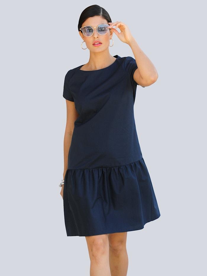 Alba Moda Kleid mit angesetzter Rüsche am Abschluss, Marineblau