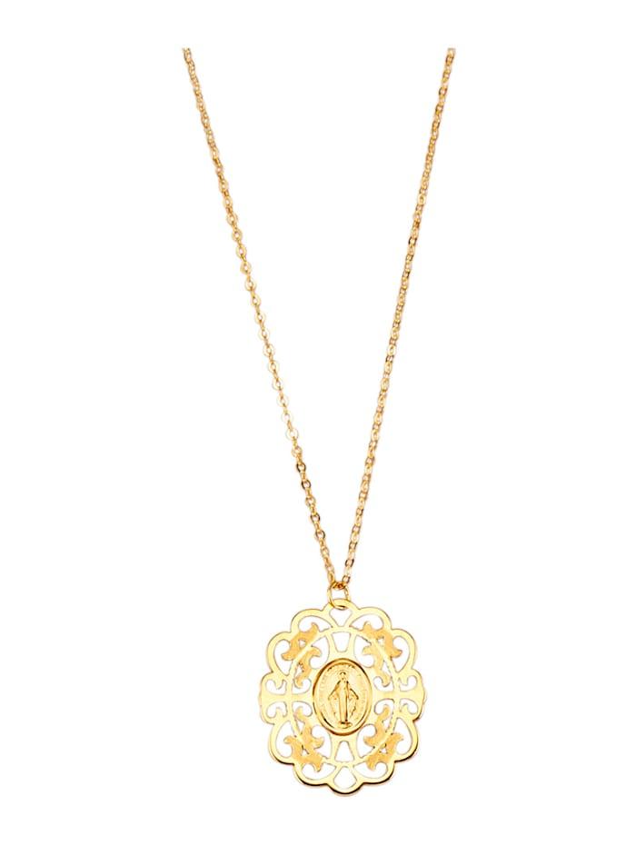 Halsband – hänge med Madonnan, Guldfärgad