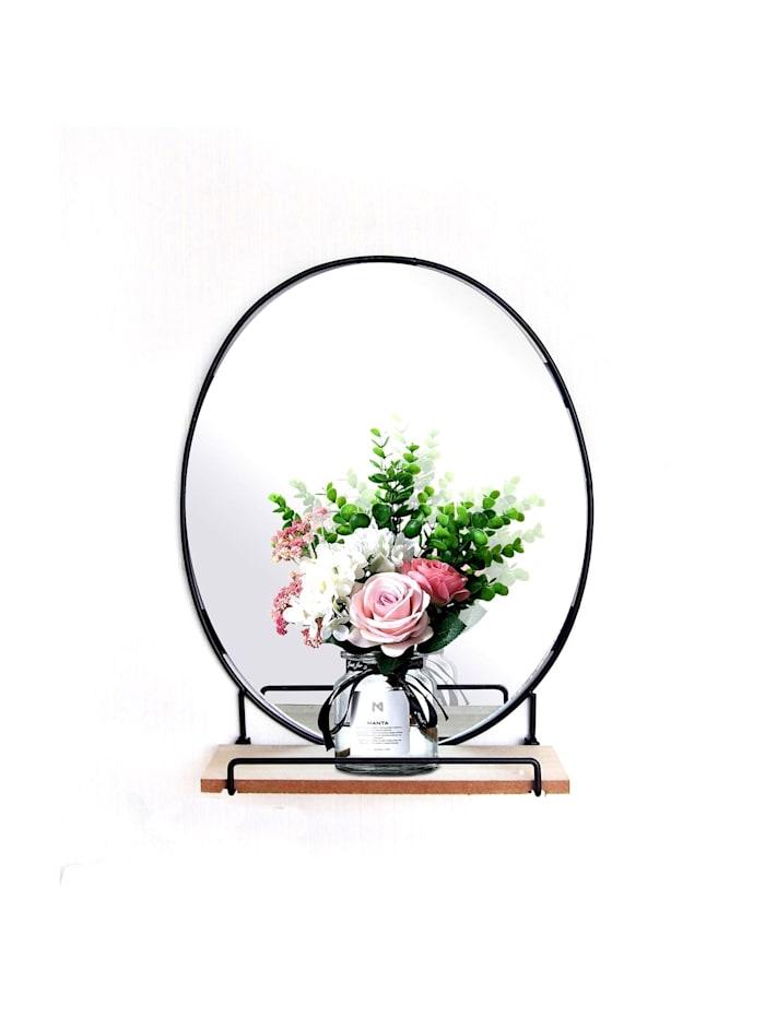 HTI-Line Wandboard Mirror Viola, Schwarz, Natur