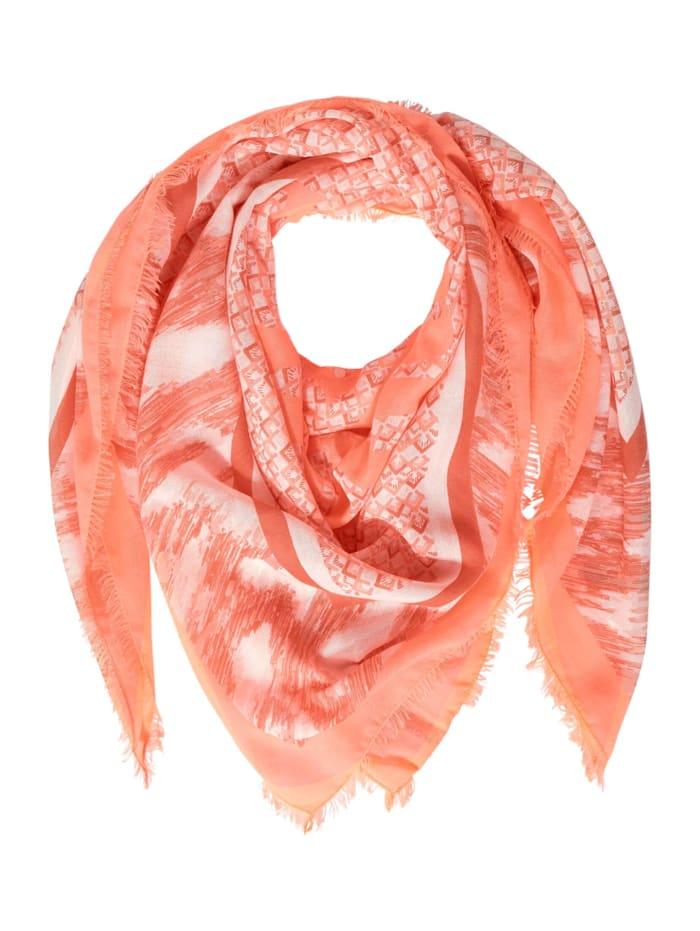 Street One Schal mit Print, strong mandarine