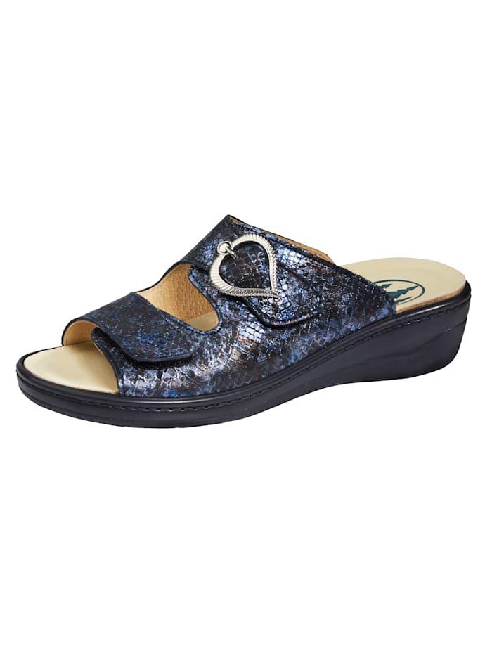 Franken Schuhe Muiltje, Blauw