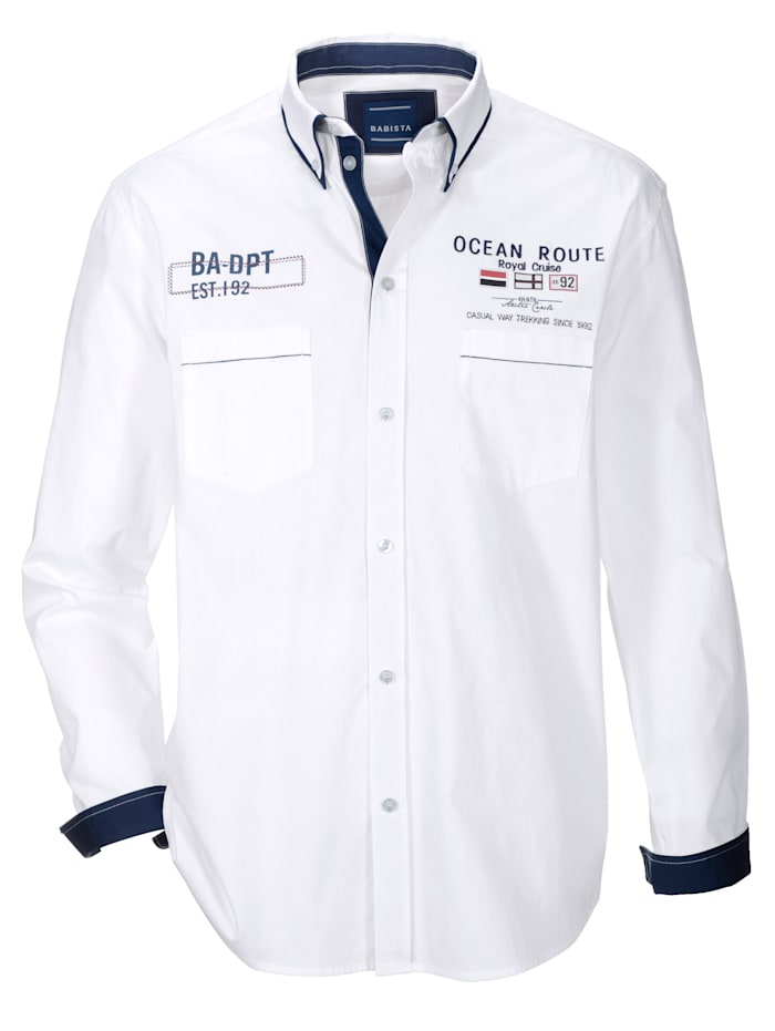 BABISTA Hemd mit Doppelkragen, Weiß
