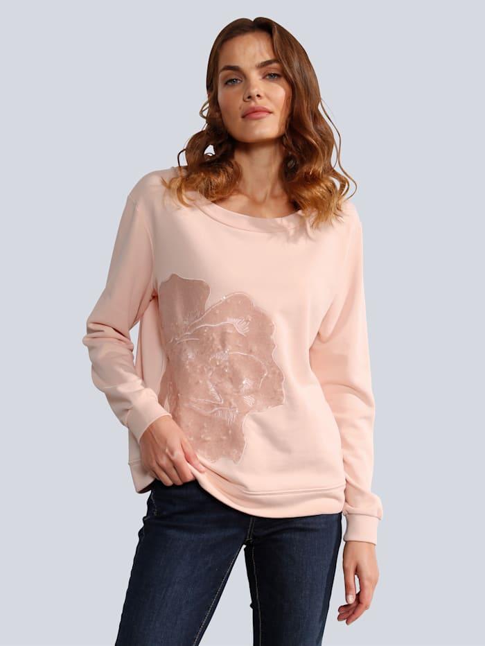 MARGITTES Sweatshirt in lässiger Form, Pfirsich