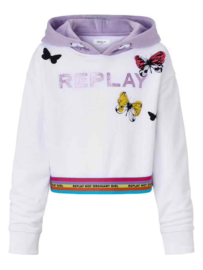 REPLAY Hoodie Kids, Off-white