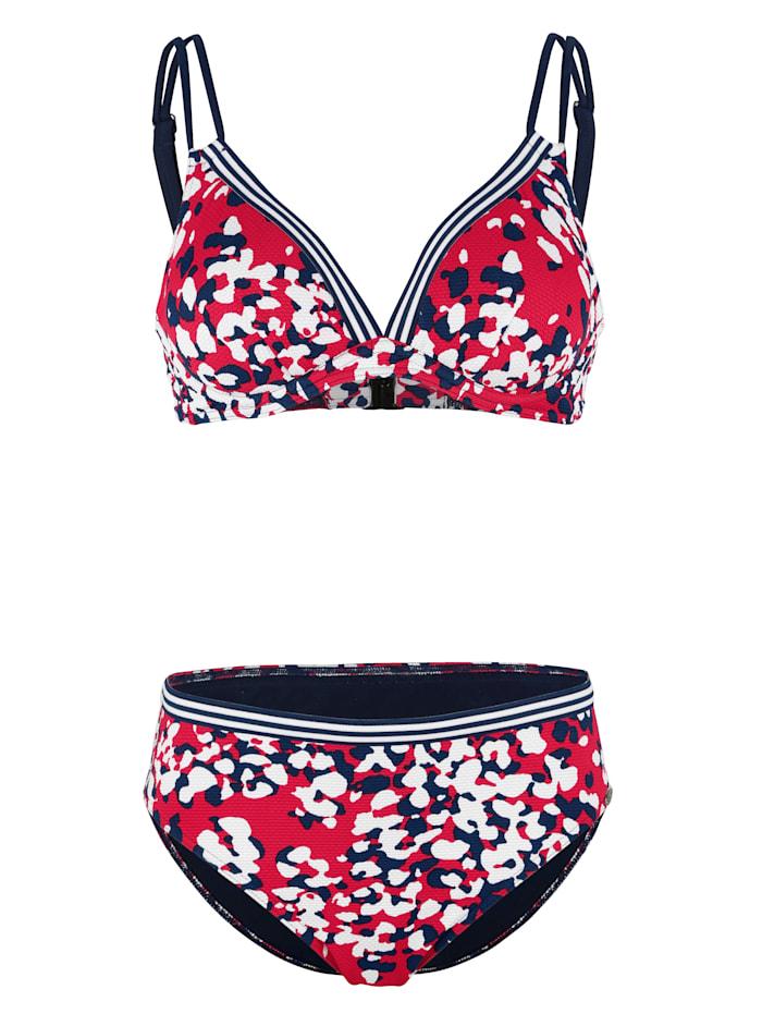 Sunflair Bikini van structuurmateriaal, Rood