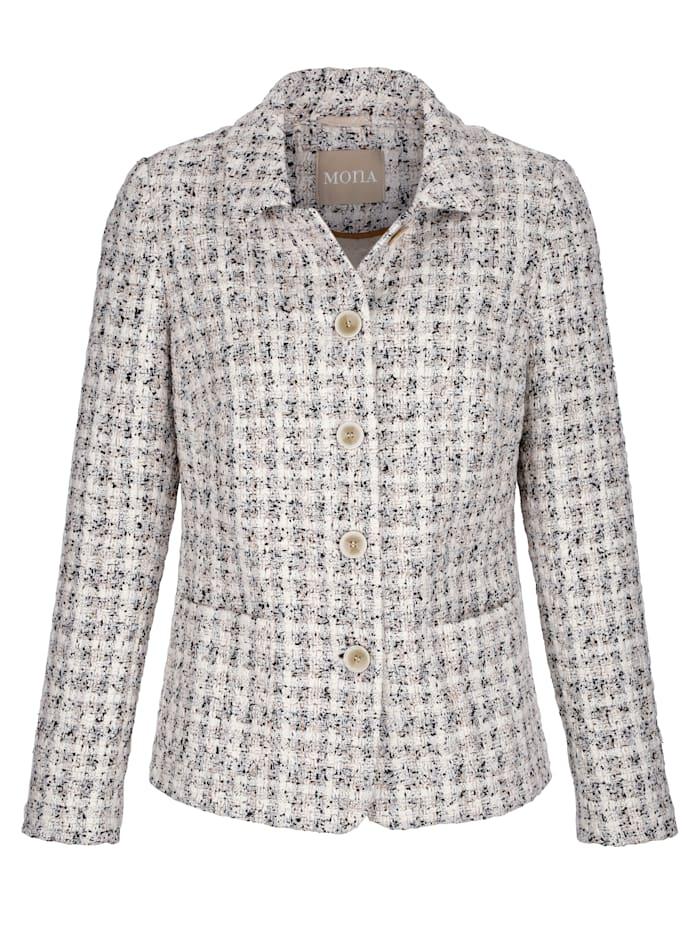 Blazer in a textured fabric