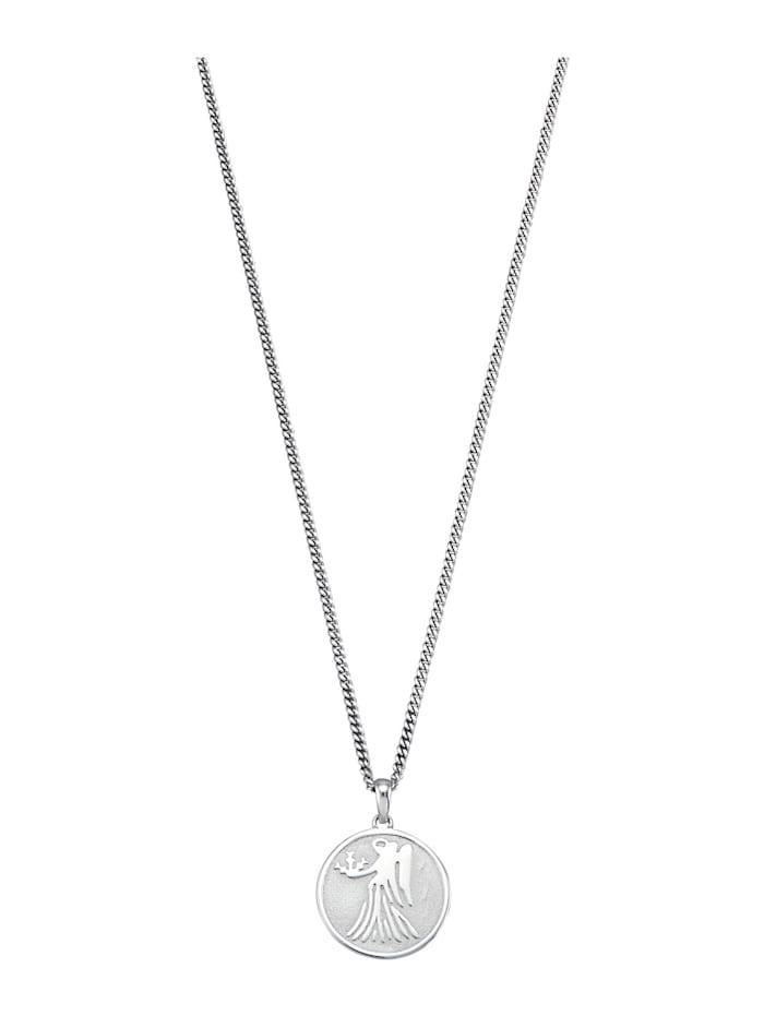 Halsband med stjärntecken Jungfrun, Vit