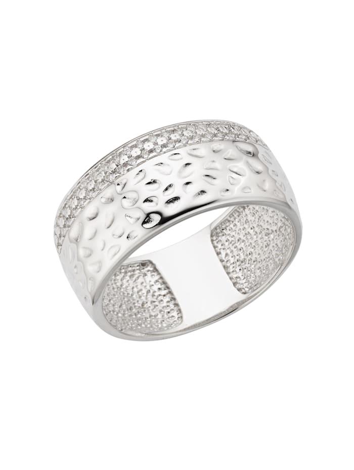 ZEEme Ring 925/- Sterling Silber Zirkonia weiß Glänzend 925/- Sterling Silber, weiß