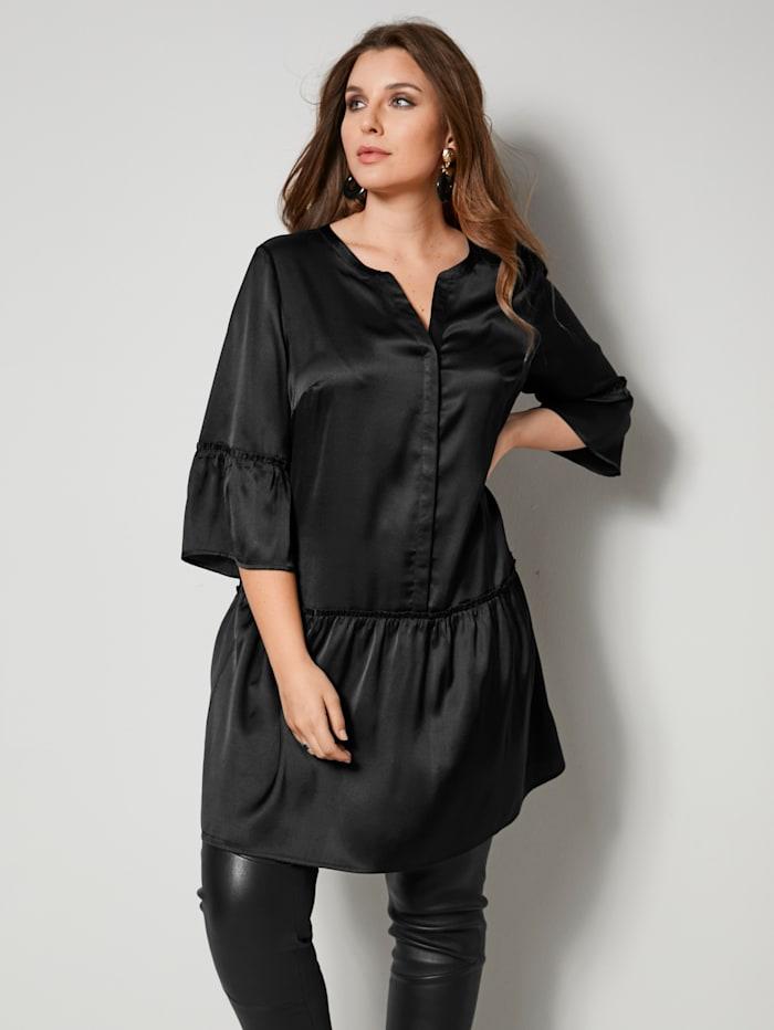 Tunika-Bluse mit Glanzeffekt