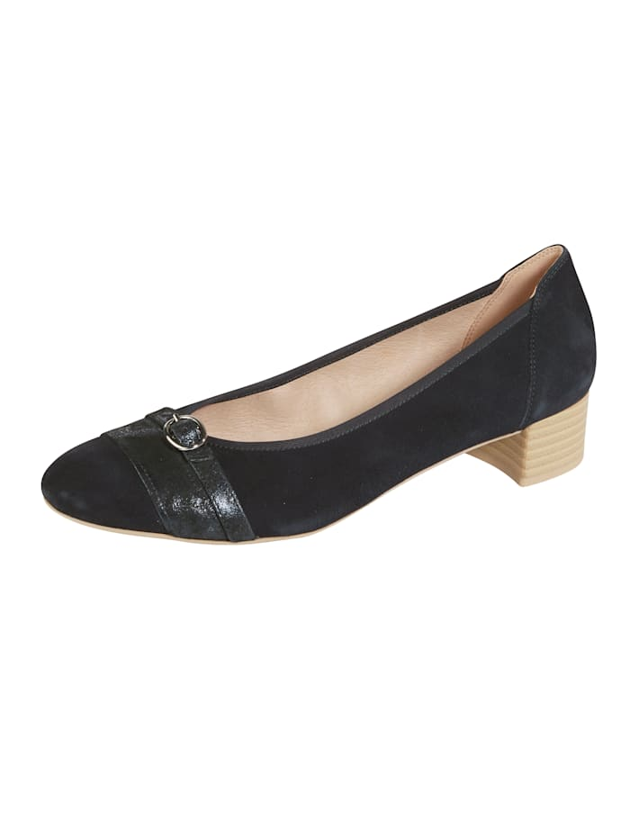 MONA Court shoes with buckle detail, Dark Blue
