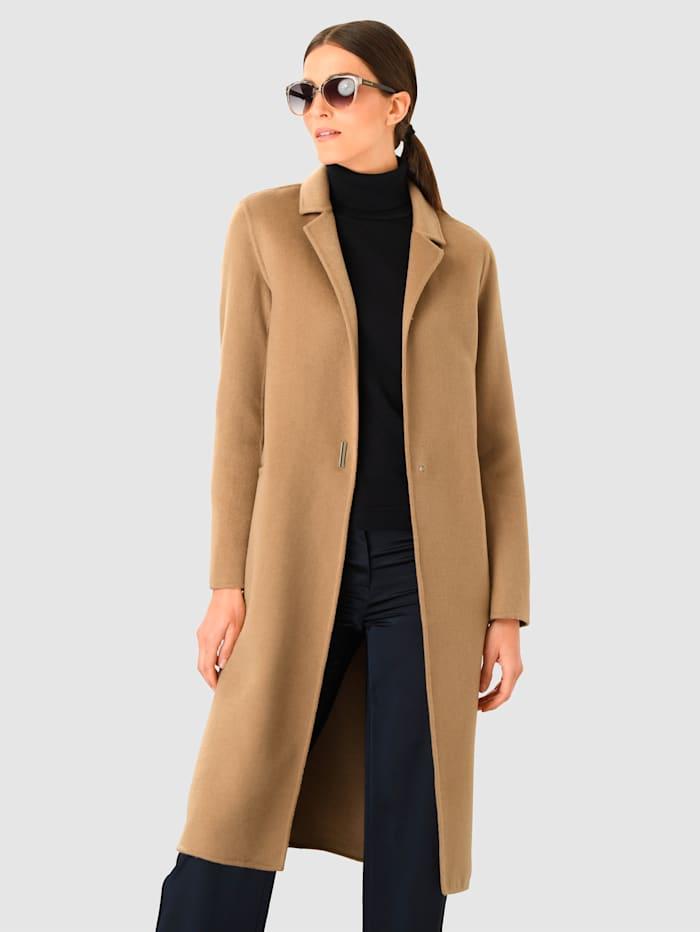 Alba Moda Manteau à teneur élevée en laine, Cognac