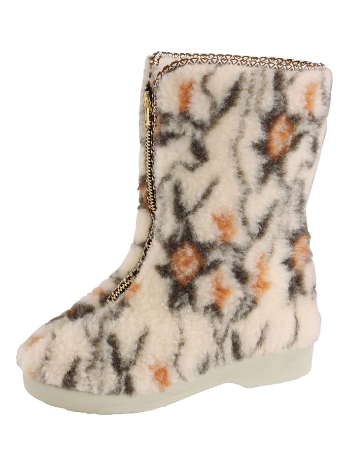 Pantoufles bottes à laine d'agneau