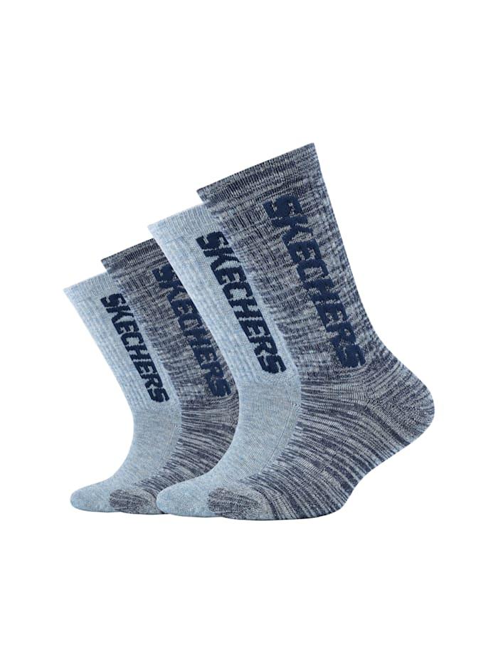 Skechers Tennis-Socken im praktischen 4er-Pack, stone mouliné