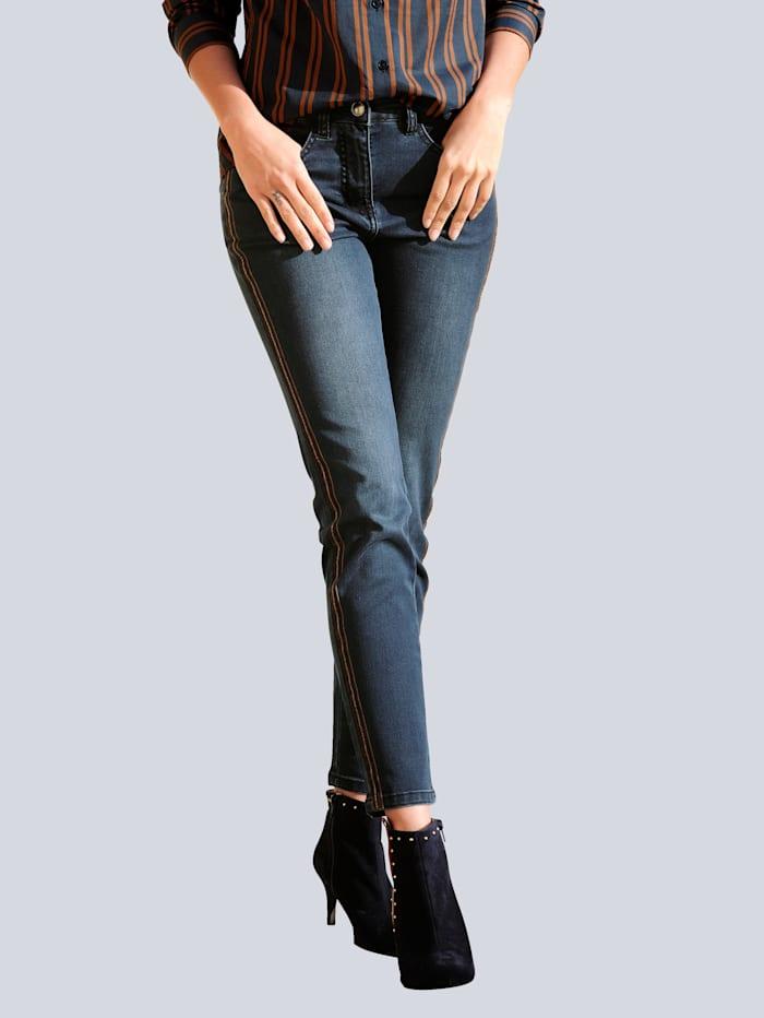 Alba Moda Jeans in trageangenehmer elastischer Qualität, Dark blue