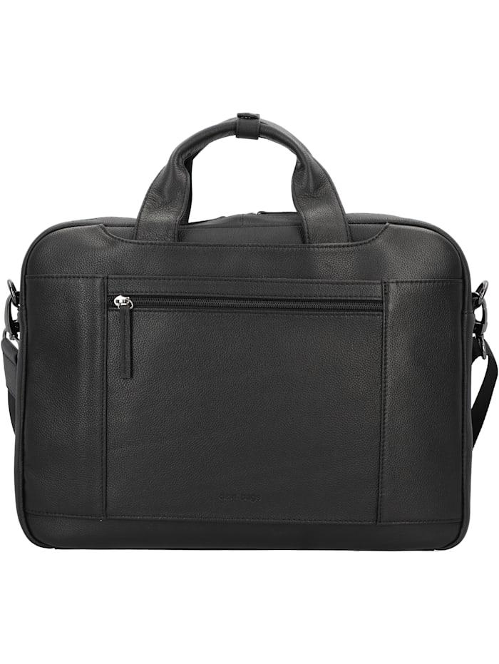 D&N Business Line Aktentasche Leder 40 cm Laptopfach, schwarz