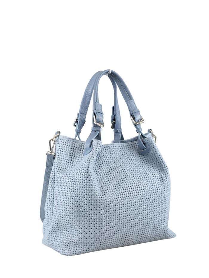 Collezione Alessandro Shopper Valencia aus gemustertem Leder, blau