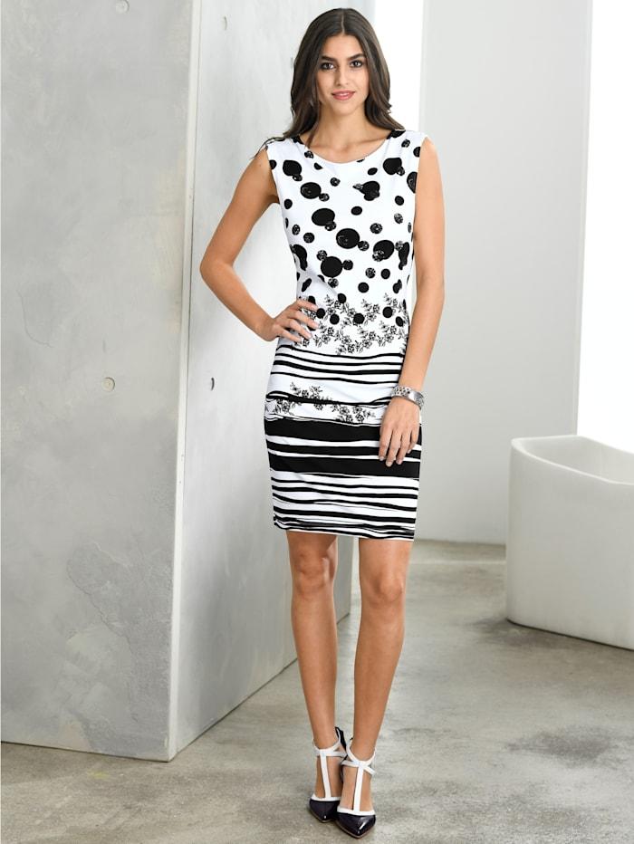 Jerseykleid mit grafischem Print
