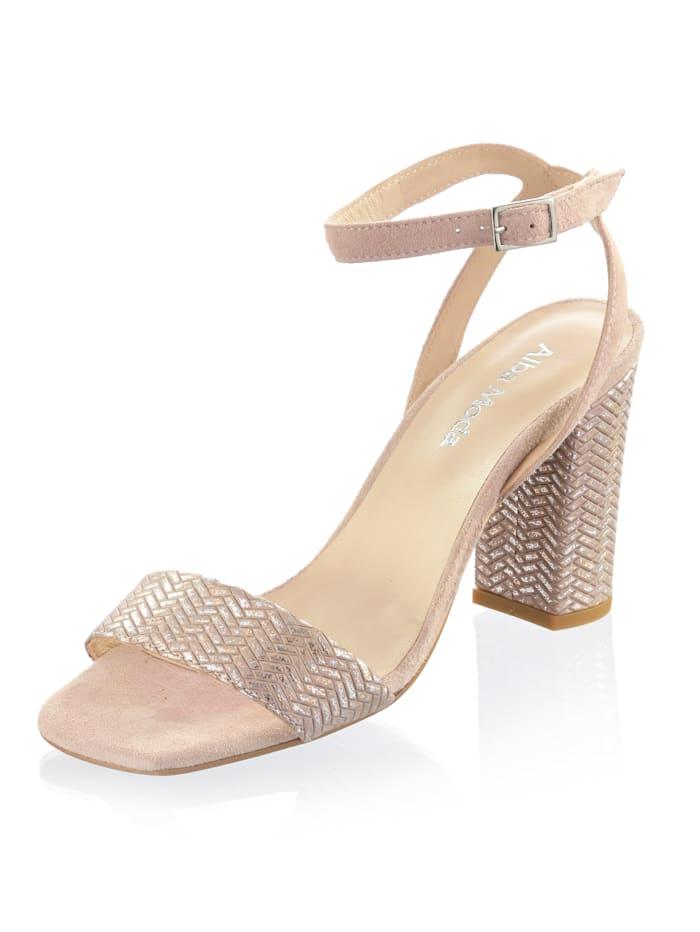 Alba Moda Sandalette aus Ziegenleder, Nude