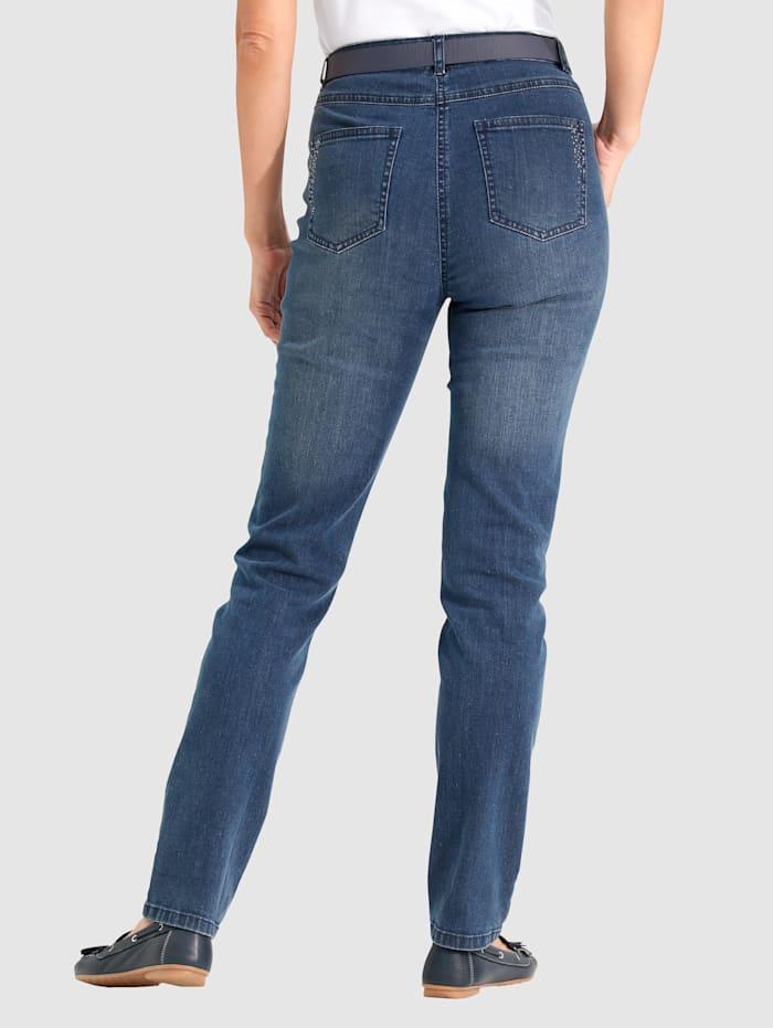 Jeans met siersteentjes