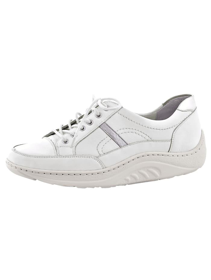 Waldläufer Šněrovací obuv ve skvělém vzhledu, Bílá