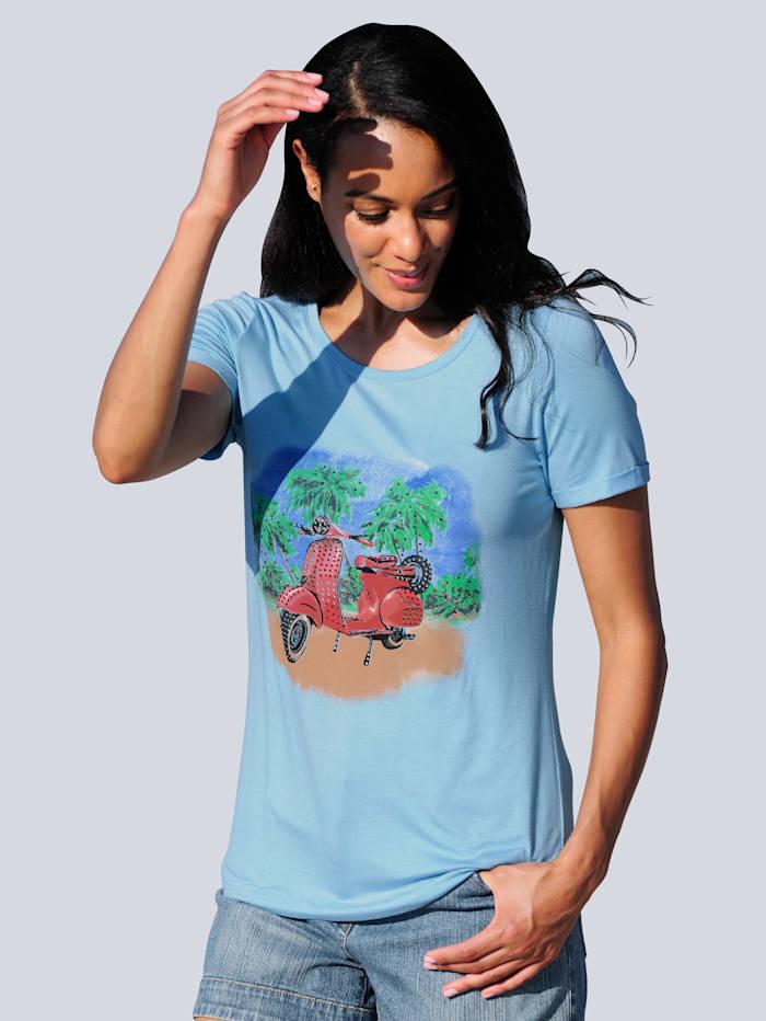Alba Moda Strandshirt mit Motiv, Hellblau