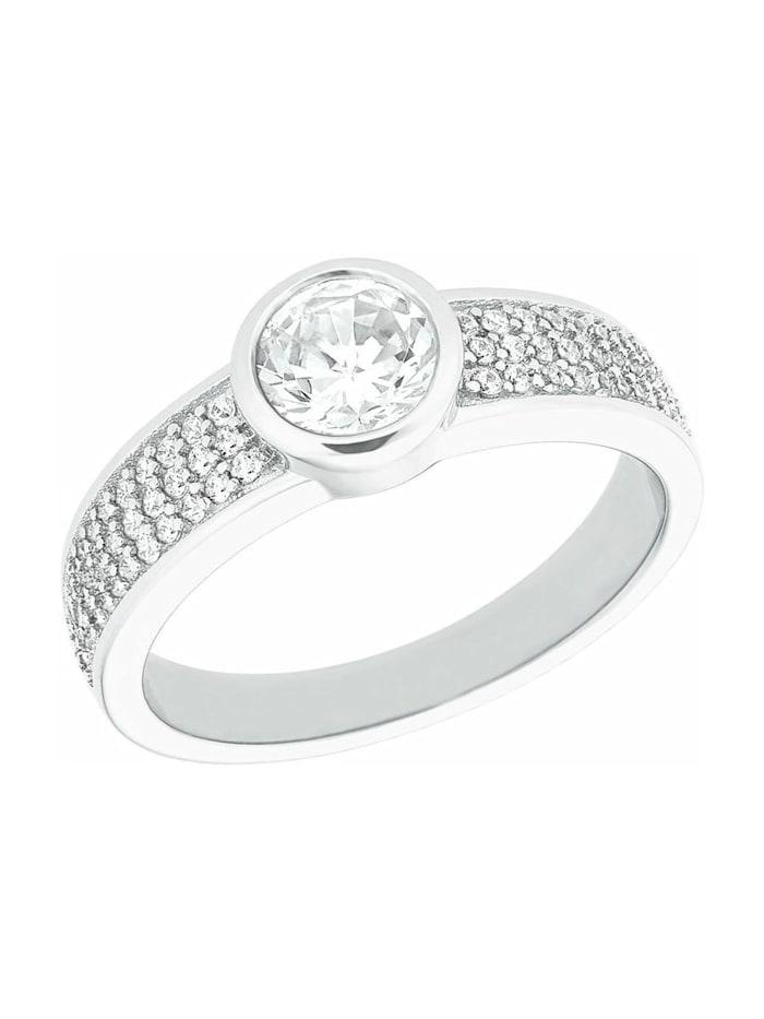 s.Oliver Ring s.Oliver Damen-Ring aus 925 Sterling Silber mit Zirkoniasteinen, Silber