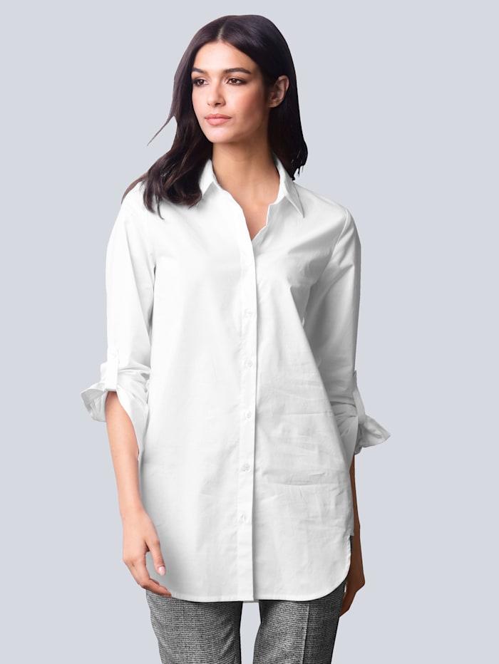 Alba Moda Bluse in bequemer Stretch-Qualität, Weiß