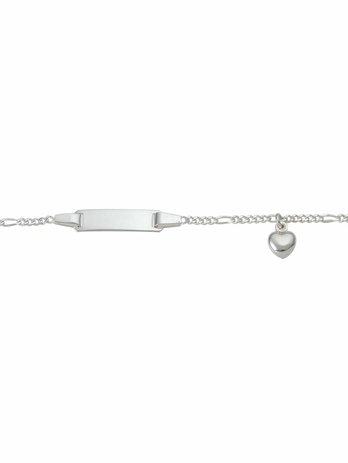 1001 Diamonds 1001 Diamonds Damen Silberschmuck 925 Silber Figaro Armband Mit Motiven 16 cm, silber