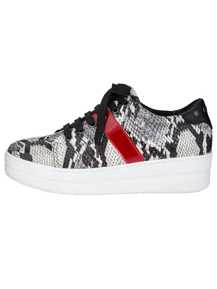 Lace-Up Trainers With an on-trend snake print