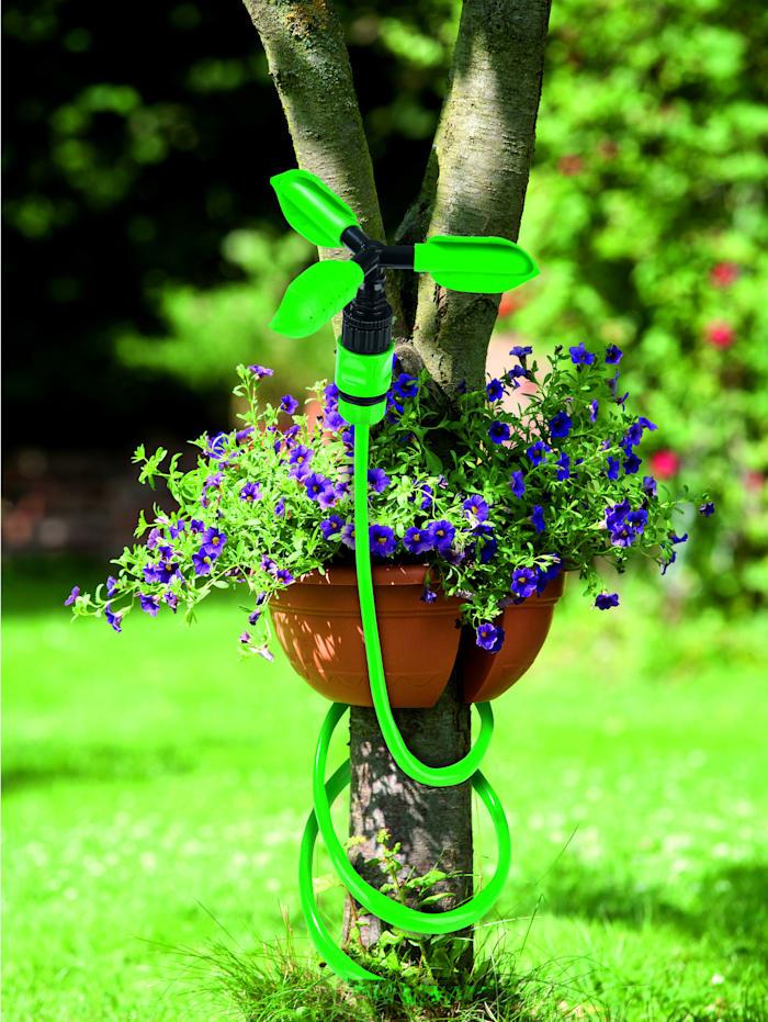 EASYmaxx Gartensprinkler-System mit Flexi-Schlauch & 2 Aufsätzen