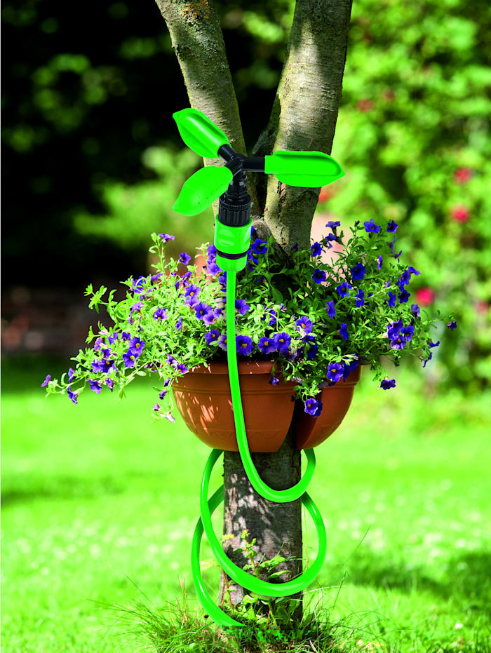 Système d'arrosage de jardin EASYmaxx avec tuyau flexible et 2 embouts