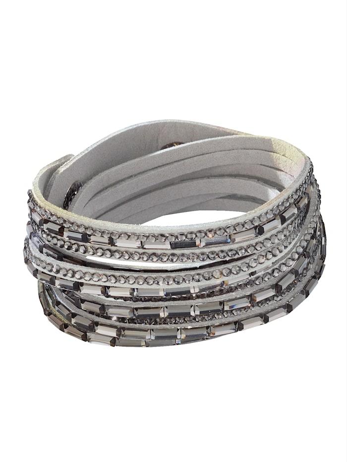 Wikkelarmband met kristalsteentjes