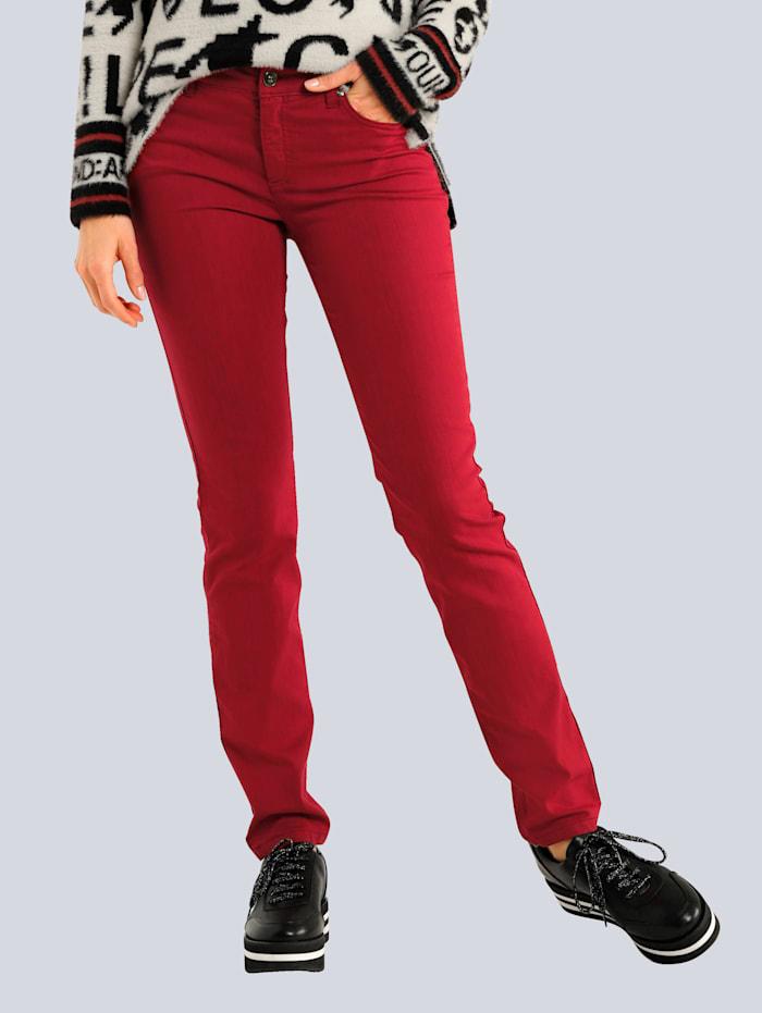OUI Hose in modischer Farbe, Rot
