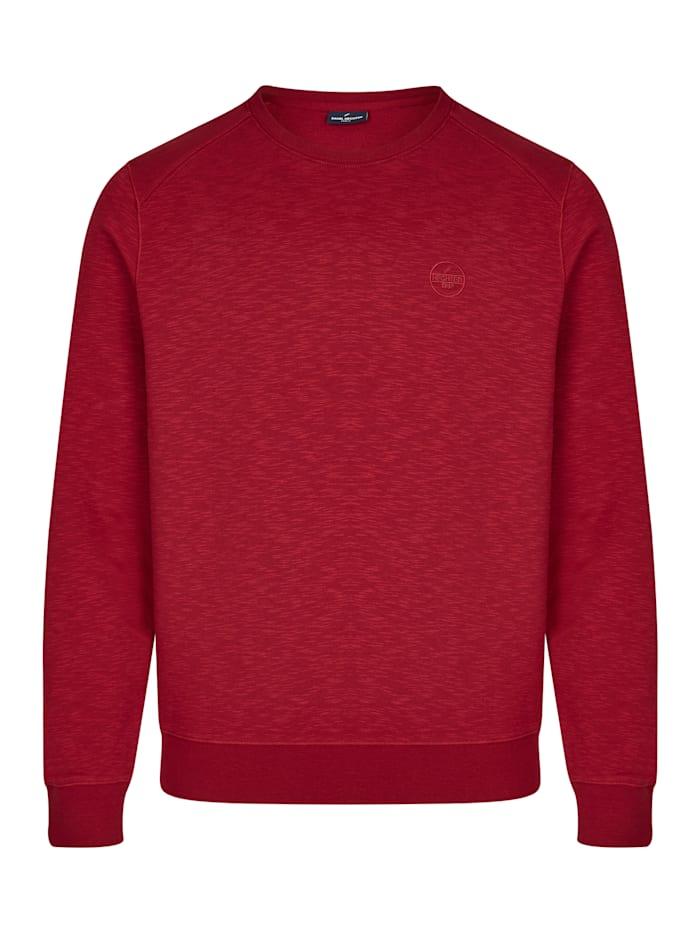 Daniel Hechter Sportives Sweatshirt in Melange-Optik, dark red - 360