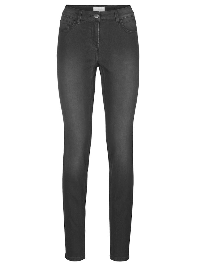 AMY VERMONT Jeans mit dezenter Waschung, Schwarz