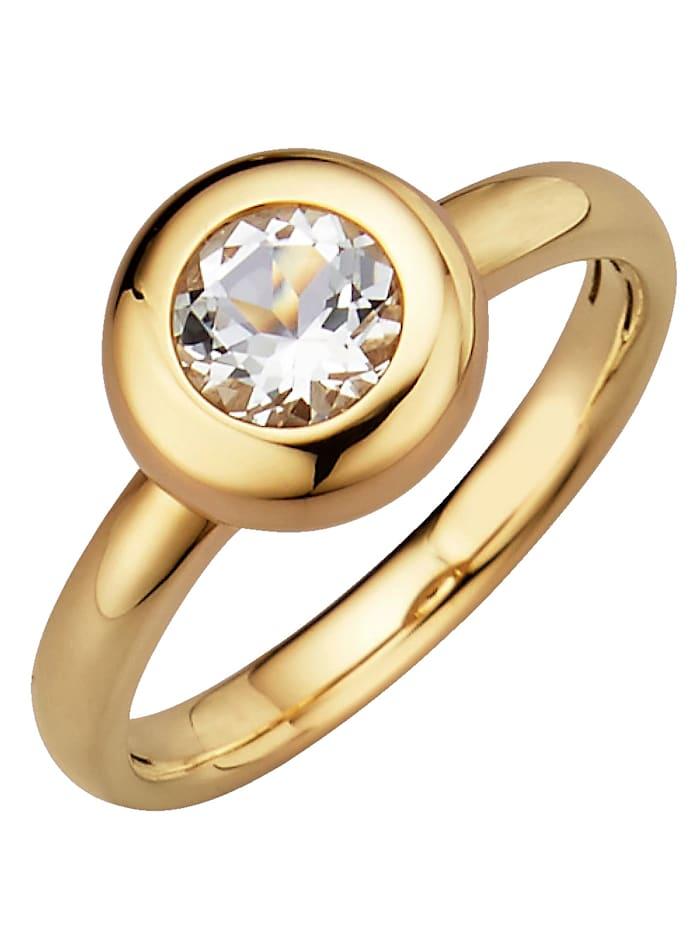 Diemer Highlights Sternzeichen-Ring Löwe, Weiß