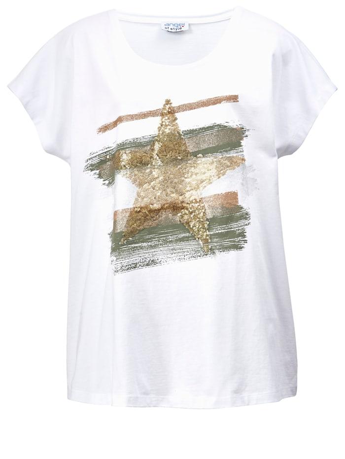 Shirt mit Stern aus Pailletten