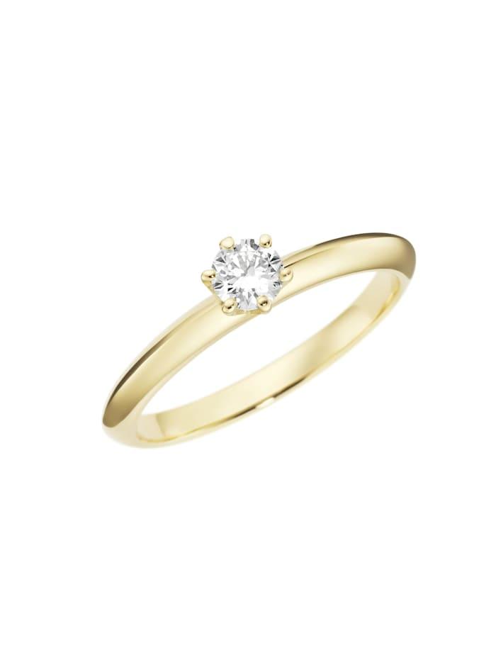 Luigi Merano Ring mit Brillant in Krappenfassung, Gold 585, Weiss