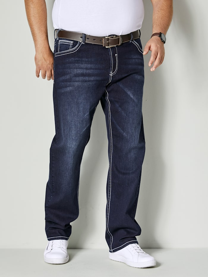 Men Plus Jeans in 5- Pocket- Form, Dark blue