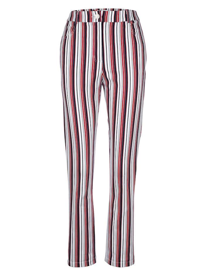 Nohavice s farebnými harmonickými prúžkami