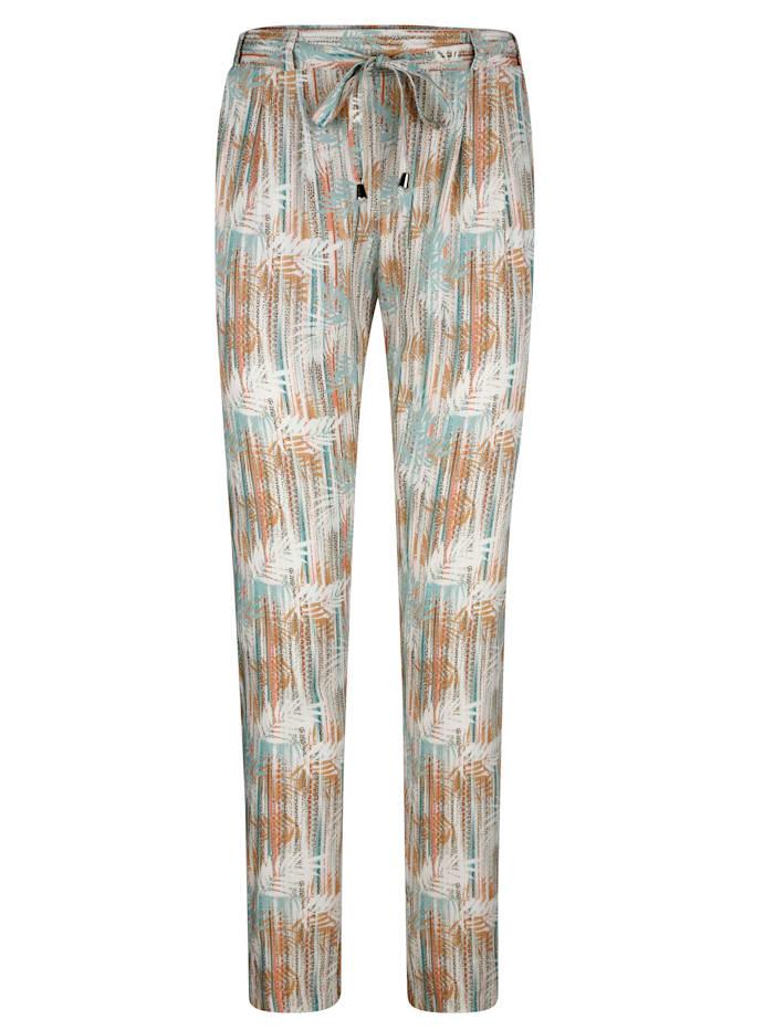 Dra-på-bukse med trykt mønster