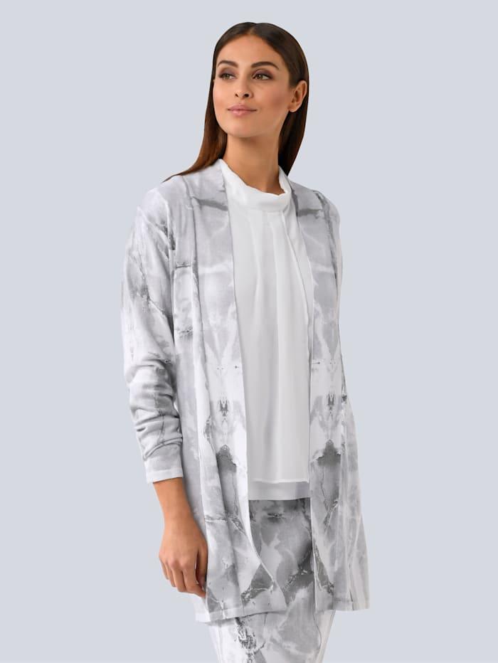 Alba Moda Strickjacke im Alba Moda Exklusiv-Dessin, Grau